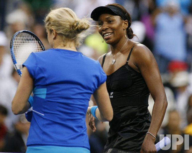 Venus Williams and Kim Clijsters play semi- final match at the U.S. Open in New York