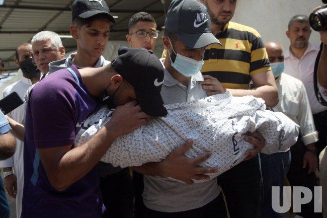 Funeral of Palestinians Killed in An Israeli Air Strike