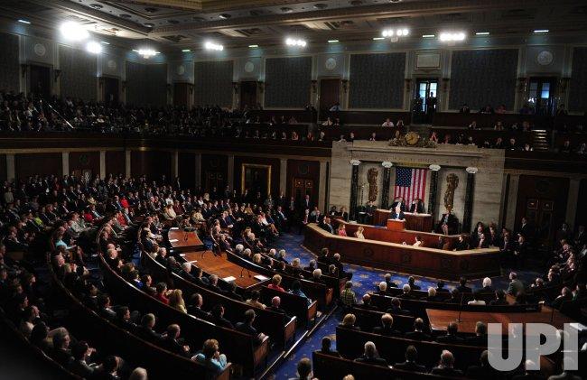 Israeli Prime Minister Benjamin Netanyahu addresses a joint meeting of Congress in Washington