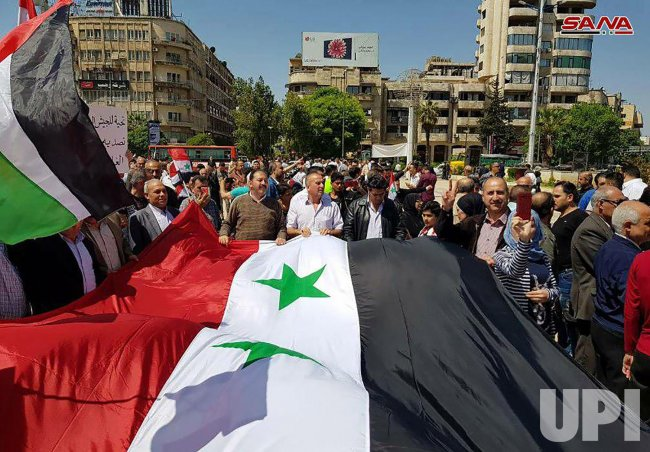 Strikes Carried Out by the United States, Britain and France Against the Syrian Regime.