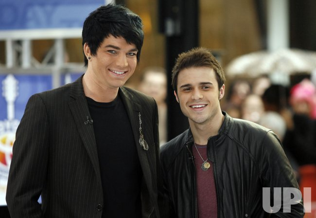 Kris Allen and Adam Lambert Perform on the NBC Today Show in New York