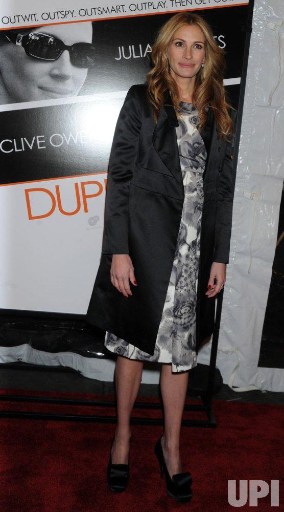 Julia Roberts promos new film Duplicity in New York