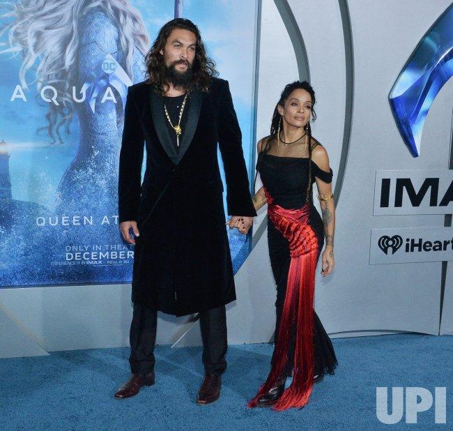 "Jason Momoa And Lisa Bonet Attend ""Aquaman"" Premiere In L"