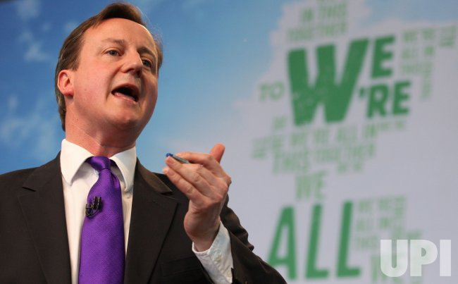 England's Conservative Party launches manifesto in London