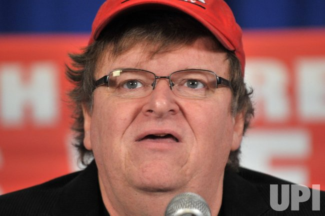 "Filmmaker Michael Moore speaks about his new movie, ""Capitalism: A Love Story"" in Washington"