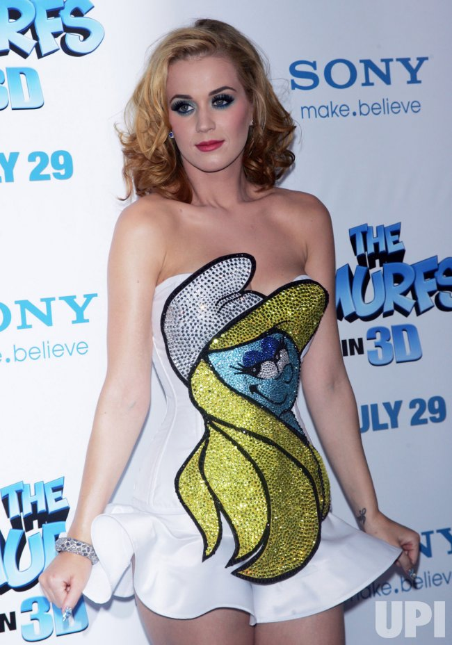 "Katy Perry arrives for the ""The Smurfs"" in 3D Premiere in New York"