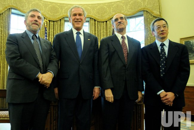 President Bush meets 2008 American Nobel Prize Laureates in Washington