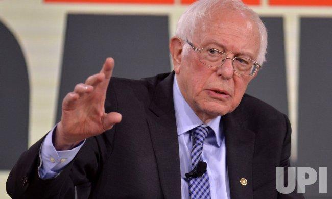 Democratic candidate Bernie Sanders attends Brown & Black Presidential Forum in Iowa