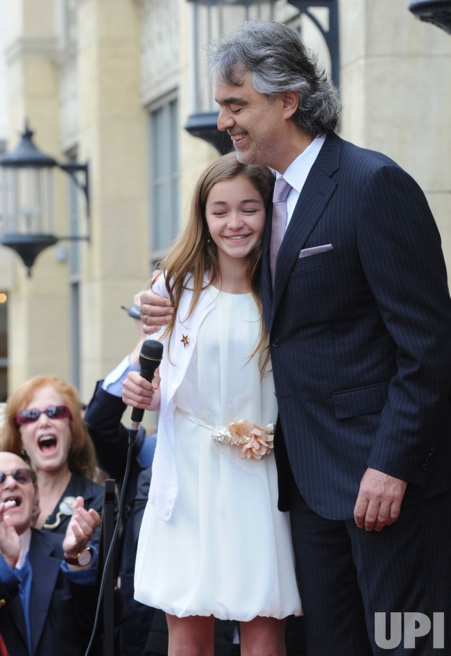 Andrea Bocelli receives star on the Hollywood Walk of Fame in Los Angeles