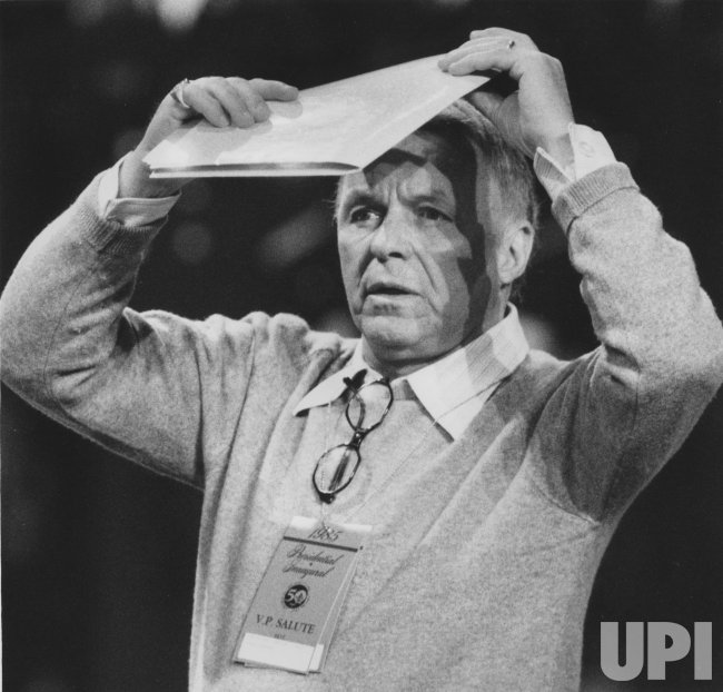 Frank Sinatra Shades His Eyes at Presidential Inaugural Gala