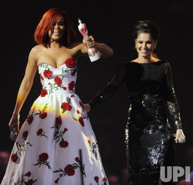 "Rihanna and Cheryl Cole at the ""Brit Awards"" in London"