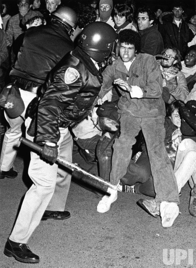 Anti Apartheid Protests at UC in Berkeley - UPI.com