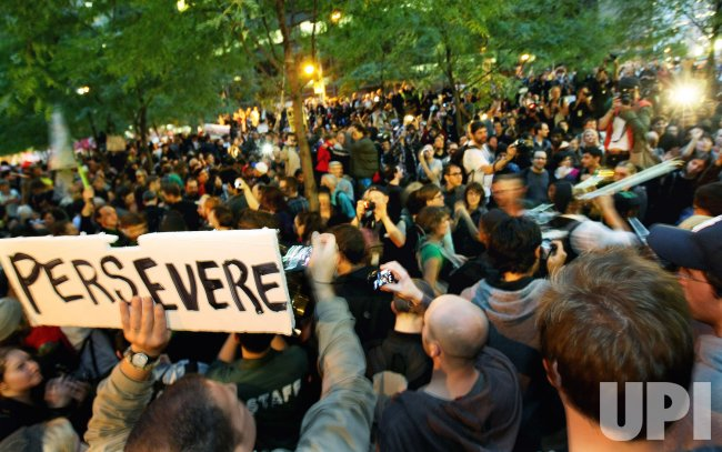Occupy Wall Street demonstrators are allowed to remain in Zuccotti Park in New York