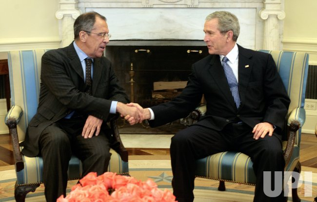 PRESIDENT BUSH MEETS WITH RUSSIAN FOREIGN MINISTER