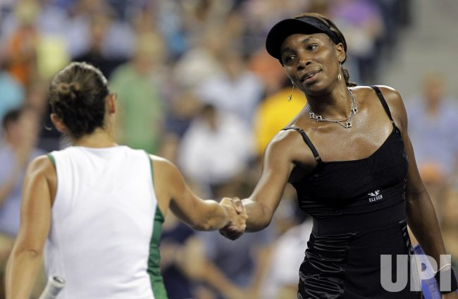 Venus Williams of the USA at the U.S. Open Tennis Championships in New York