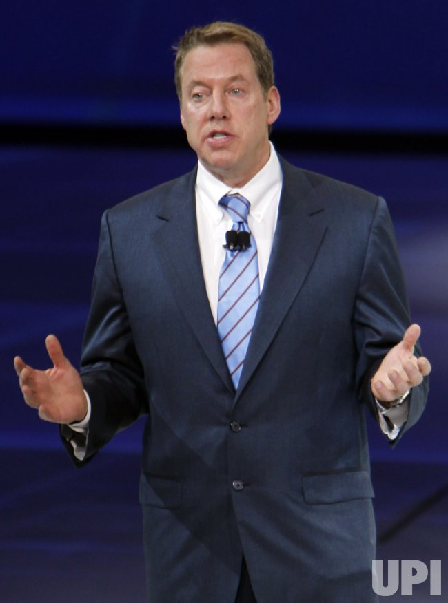 Bill Ford Jr. introduces Ford Focus line of cars at the 2011 NAIAS in Detroit, MI.