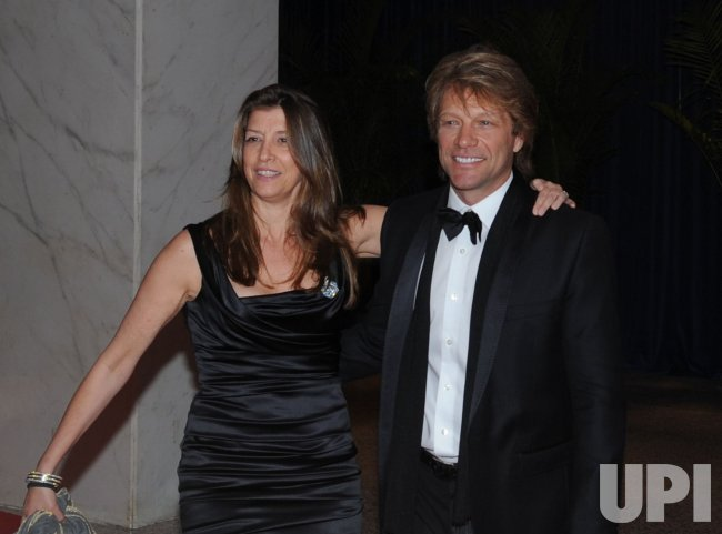 Jon Bon Jovi arrives at the White House Correspondents Dinner in Washington