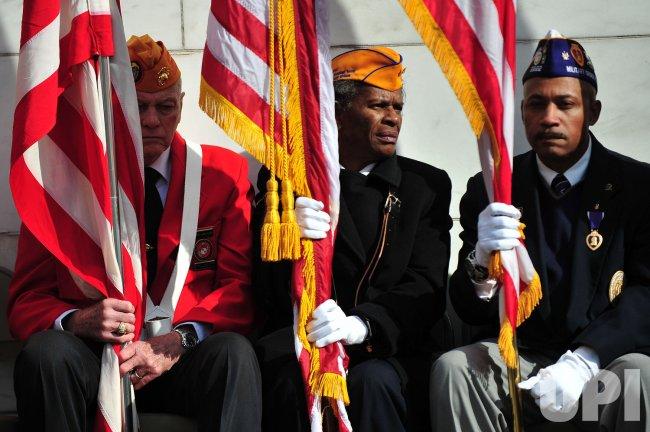 President Barack Obama speaks at Arlington National Cemetery in Virginia