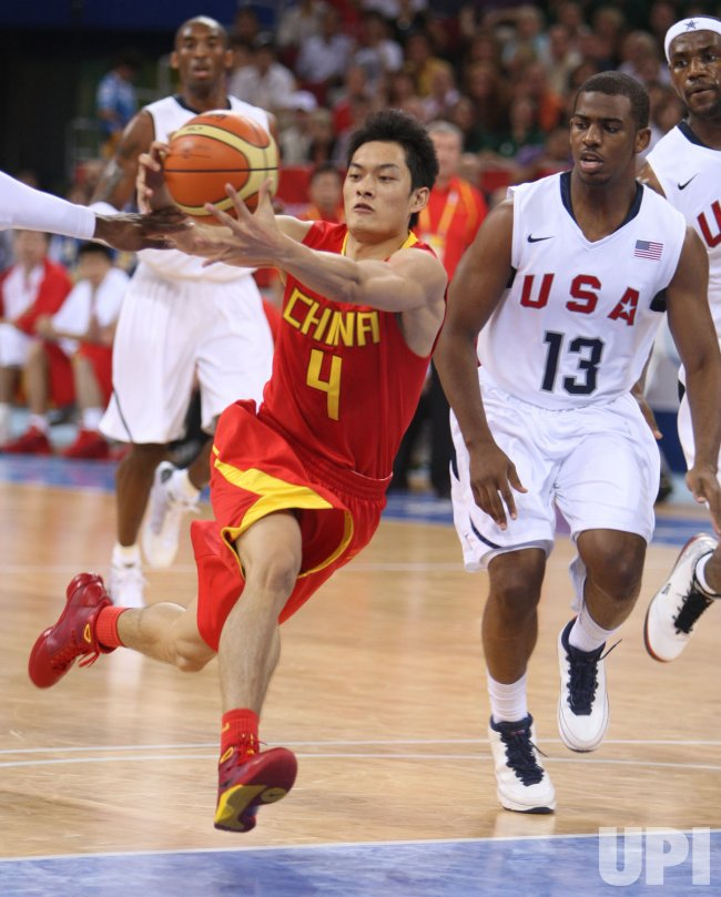 Olympic Basketball USA vs. China in Beijing