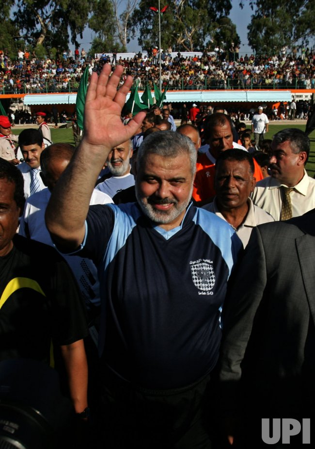 Hamas leader Ismail Haniya Plays Football