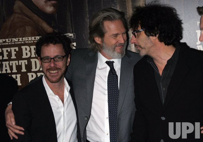 "Ethan Coen, Jeff Bridges and Joel Coen arrive for the ""True Grit"" Premiere in New York"