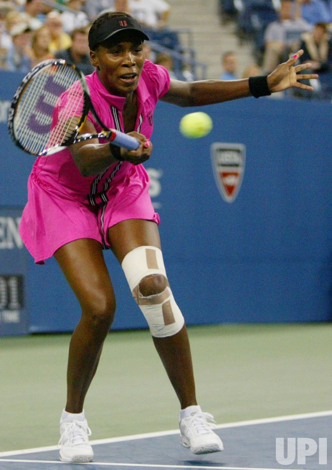Venus Williams takes on Rybarikova in third round action at the US Open tennis in New York