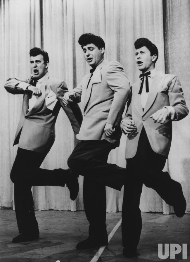 """Carl Reiner, Sid Caesar and Howard Morris in a takeoff on """"the Haircuts"""""""