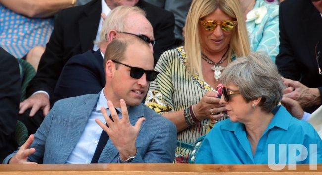 The Duke and Duchess of Cambridge at Wimbledon Men's Final