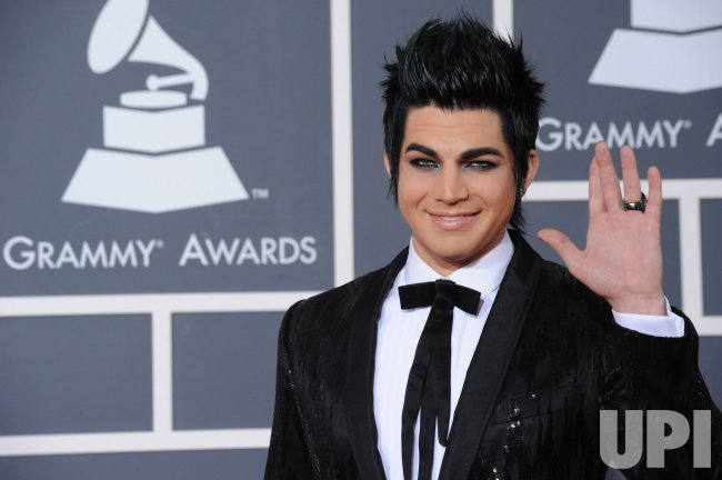 Adam Lambert arrives at the 52nd annual Grammy Awards