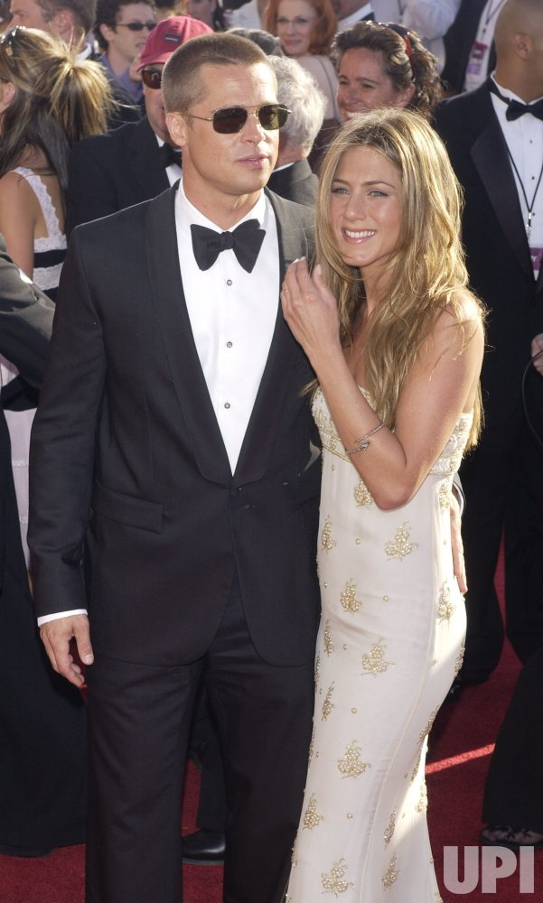 BRAD PITT AND JENNIFER ANISTON ARRIVE FOR EMMYS