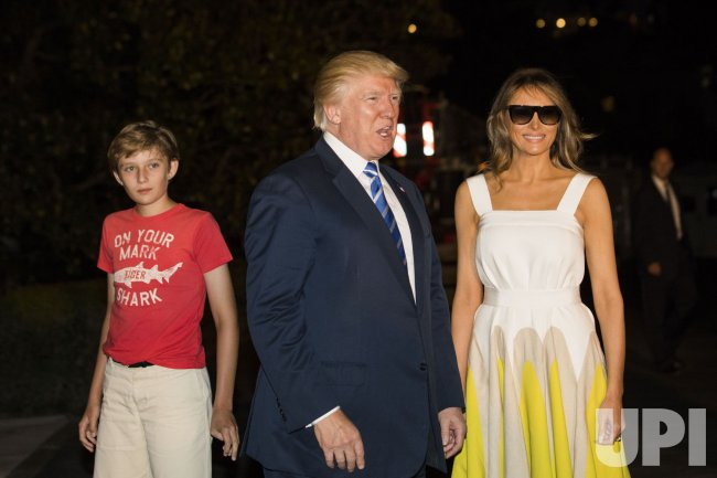 President Donald J. Trump returns to the White House from vacation