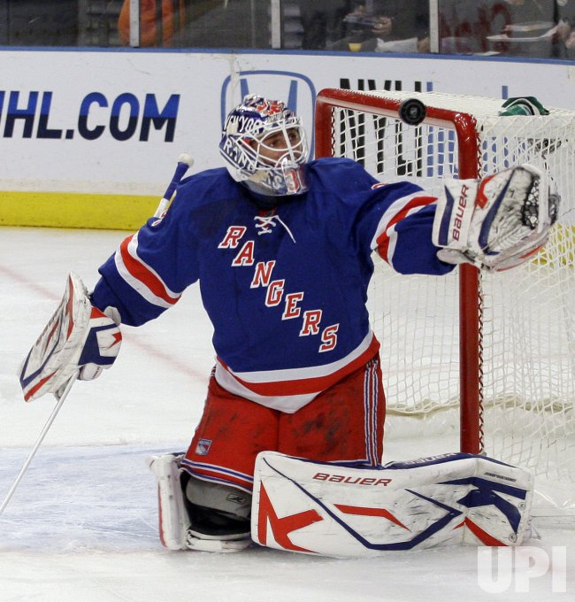 New York Rangers Henrik Lundqvist at Madison Square Garden in New York