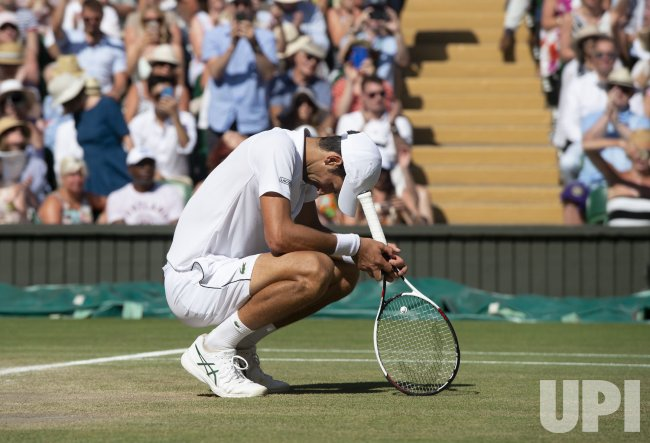 Novak Djokovic versus Kevin Anderson at Wimbledon Men's Final