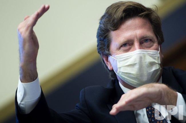 SEC Chairman Jay Clayton testifies on Capitol Hill in Washington, DC