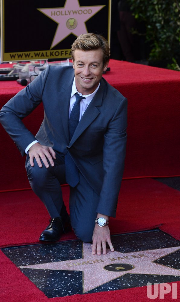 Simon Baker receives a star on the Hollywood Walk of Fame in Los Angeles