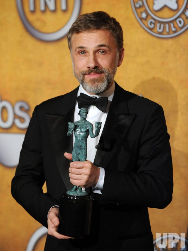 Christoph Waltz garners award at the 16th Screen Actors Guild Awards in Los Angeles
