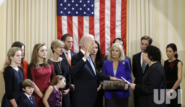 Vice-President Joe Biden Takes Oath of Office in Washington