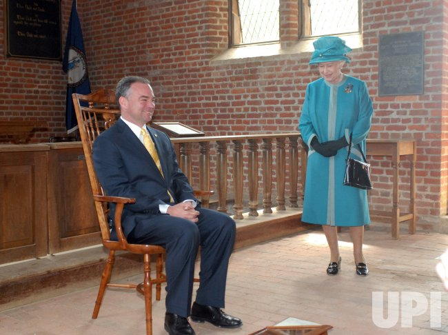 BRITAIN'S QUEEN ELIZABETH II VISITS HISTORIC JAMESTOWNE IN VIRGINIA