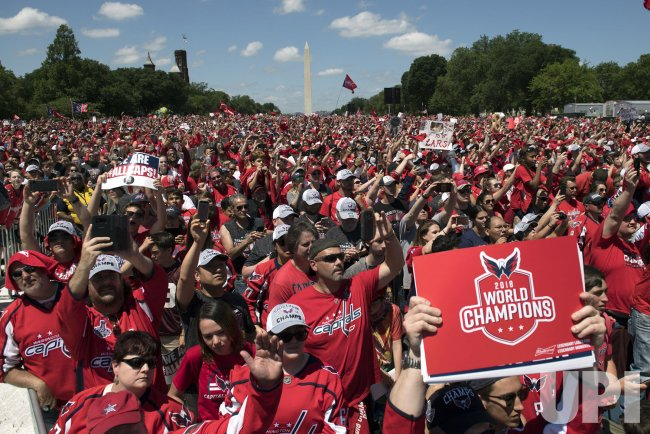 Fans Fill the National Mall for the Capitals Stanley Cup victory parade in Washington, DC