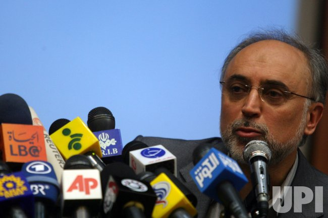 Ali Akbar Salehi attends joint press conference in Tehran