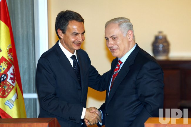 Spain's Zapatero meets with Israel's Netanyahu in Jerusalem