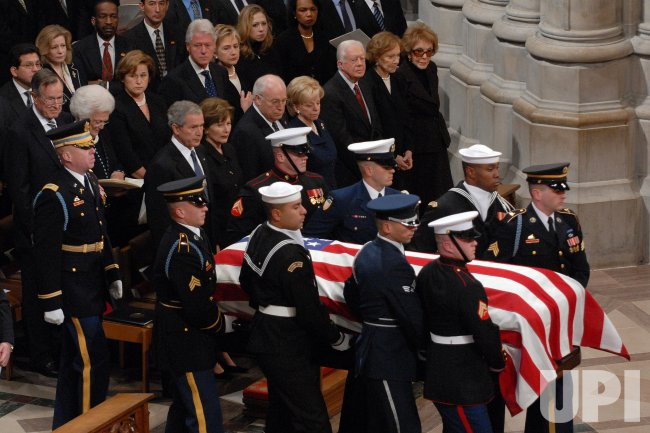 STATE FUNERAL HELD FOR PRESIDENT FORD