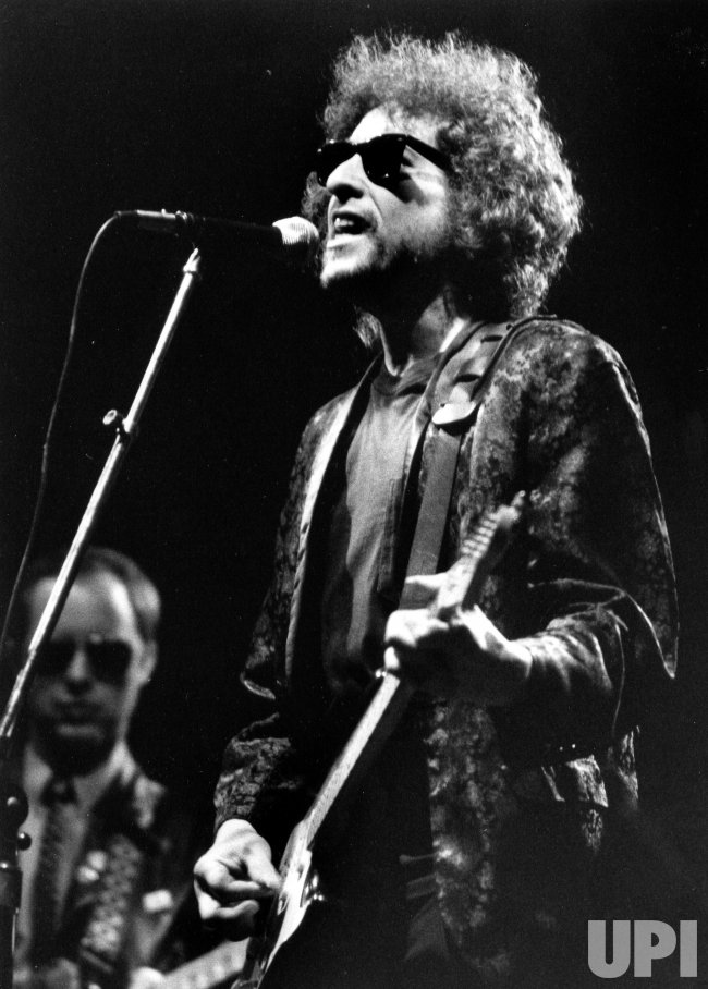 Bob Dylan onstage in 1981.