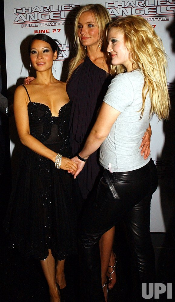 """Diaz, Liu and Barrymore attend """"Charlie's Angels Full Throttle"""" New York film premiere"""