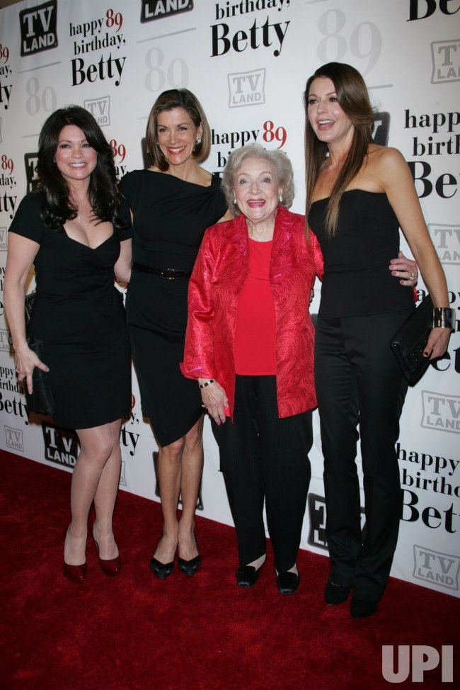 Valerie Bertinelli, Wendy Malick, Betty White and Jane Leeves arrive for Betty White's 89th Birthday Party in New York