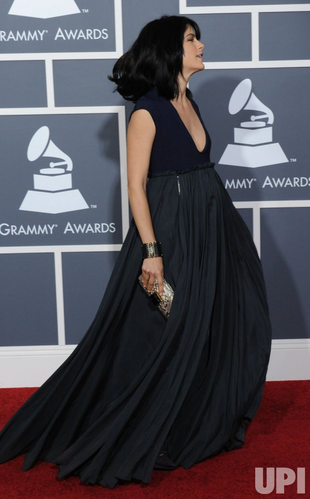 Selma Blair arrives at the 53rd Grammy Awards in Los Angeles