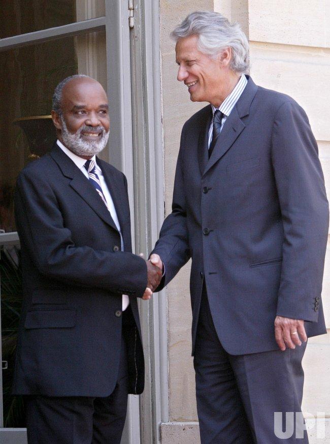 HAITIAN PRESIDENT VISITS