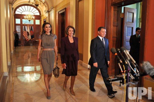 Speaker Pelosi meets with King Abdullah of Jordan in Washington