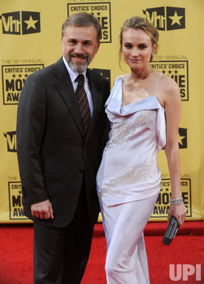 Christoph Waltz and Diane Kruger attends the 15th annual Critics' Choice Movie Awards in Los Angeles
