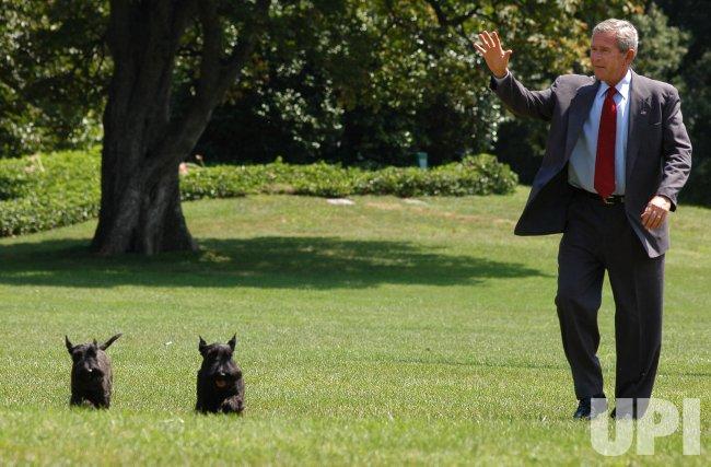 Washington DC: President Bush Arrives at the White House